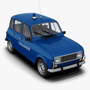 renault 4 french police car 3D model