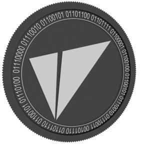 3D vite black coin