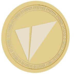 3D vite gold coin