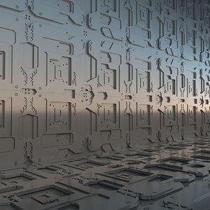 3D model sci panel sci-fi