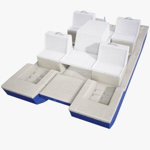 catamaran vessel 3D