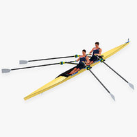 Rowing Double Sculls Animated HQ