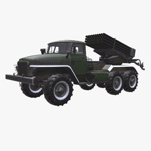 3D bm-21 grad truck bm