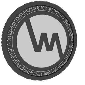 wepower black coin 3D model