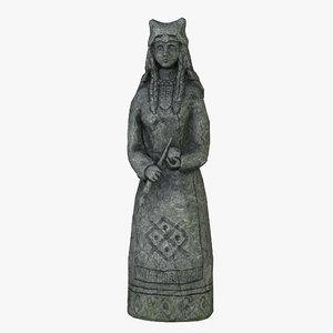 celtic idol 12 3D model
