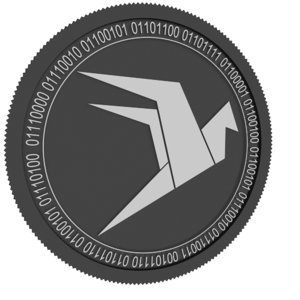 wings black coin 3D