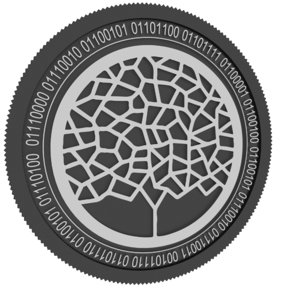 winding tree black coin 3D