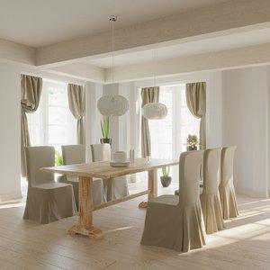 tableware lighting 3D model