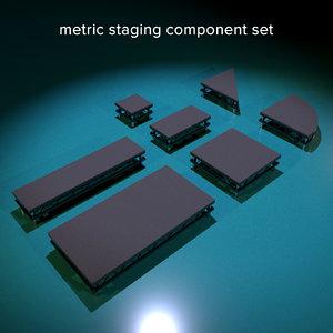 metric staging 3D model