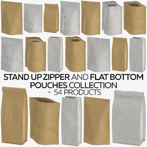 stand zipper flat pouches model