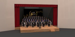 3D theatrical orchestra stage