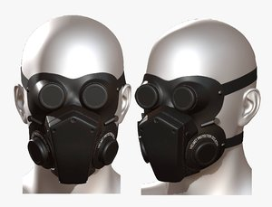 helmet mask 3D model