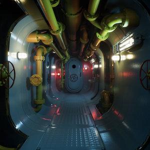 corridor hallway space 3D model