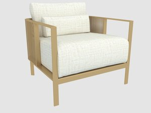 solanas armchair gandia blasco 3D model