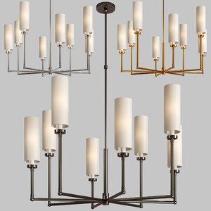 3D ziyi large chandelier model