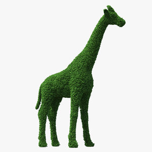 3D decorative giraffe topiary model
