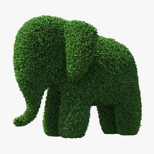 3D elephant topiary garden sculpture