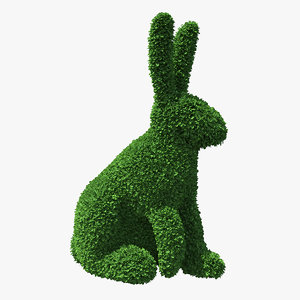 rabbit topiary sculpture 3D model