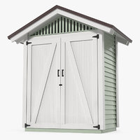 Wooden Vertical Storage Shed