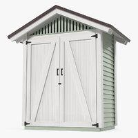 Wooden Vertical Storage Shed