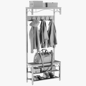 3D base mesh rail coat model