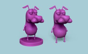 3D courage - cowardly dog model