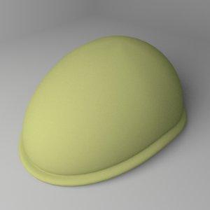 3D ascot cap