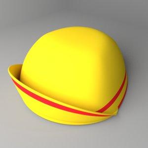 3D casquette cap model