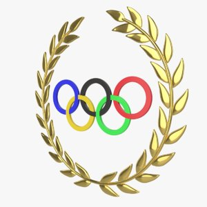 olympic games rings 3D model