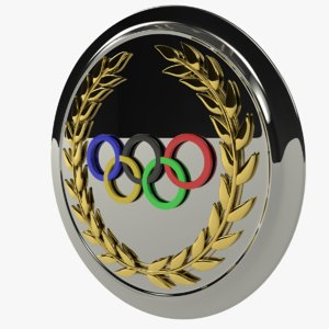 olympic games rings shield 3D