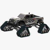 Monster Truck Rubber Track Model