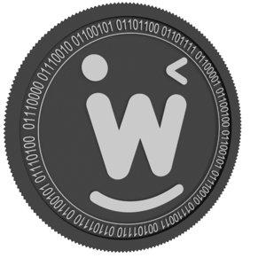 wink black coin 3D