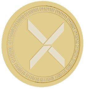 xaurum gold coin 3D model