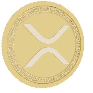 3D xrp gold coin model