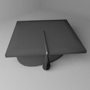 3D mortarboard cap