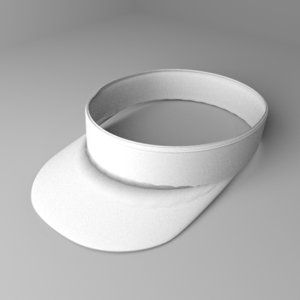 3D visor cap