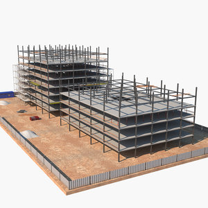 construction site 3D model