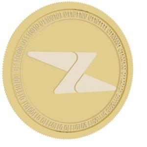 zipper gold coin 3D model