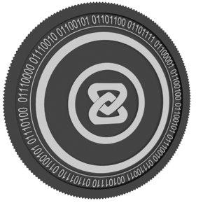 3D zb black coin model