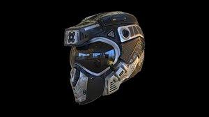 helmet c19 unreal 3D model