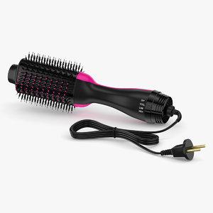 3D hair dryer dry