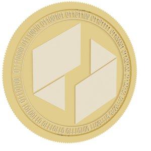 ubiq gold coin 3D model