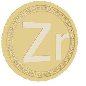 zrcoin gold coin 3D