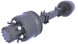 suspension axle rear 3D model