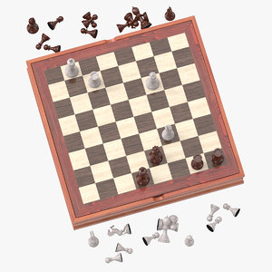3D chess board set 02