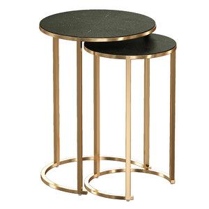 tables antique brass nesting 3D model