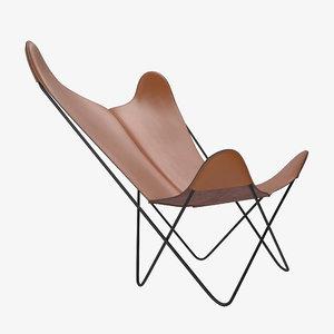 3D butterfly chair model