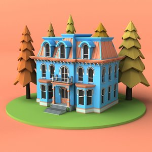 3D house 03 model