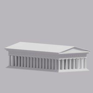 greek parthenon 3D model
