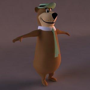 yogi bear character 3D model